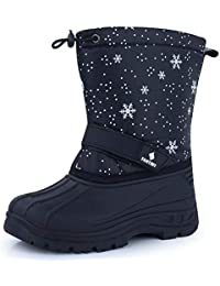 Fantiny Snow Boots Winter Outdoor Waterproof with Fur...