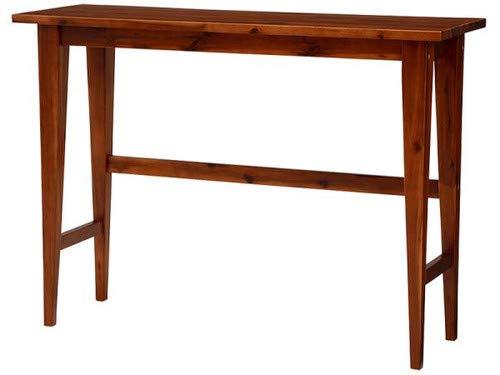 ミドルブラウン デスク(テーブル) W120 無垢材リビング家具シリーズ Alberta アルベルタ【品】 B07NGL1GR3