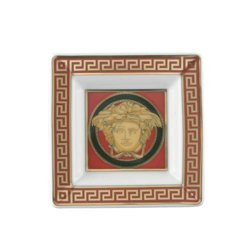 Versace by Rosenthal Medusa Red 3 1/4-Inch Square Tray (Rosenthal Medusa Red Gift)