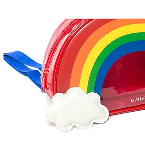 Damen-Transparent rainbow klar zarapack Rucksack ES Tasche Geldbörse