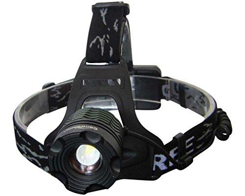 Canwelum Hellste Cree LED Stirnlampe, Wiederaufladbare LED Kopflampe als Lauf Joggen, Laufen, Camping, Angeln oder Jagen Stirnlampen (Ein Komplett-Set mit 2 x 18650 Lithium-Ionen Akku und 1 x Euro Ladegerät)