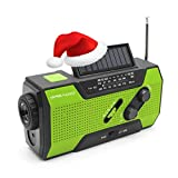 Emergency Weather Solar Crank AM/FM NOAA Radio with Portable 2000mAh Power Bank, Bright