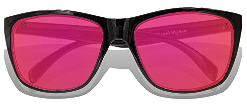 adulte de Lunettes Black Glossy KZ Frame Revo Full soleil Pink Lens fOPUxwwn