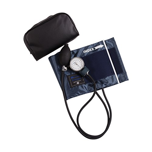 Mabis Precision Series Aneroid Sphygmomanometer Manual Blood Pressure Monitor, Cuff Size 13 to 20 inches, Large Adult