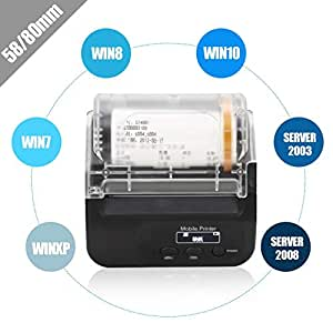 Hakeeta Mini Impresora térmica inalámbrica, Impresora de ...
