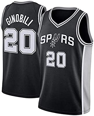 Women Jersey NBA Spurs 20# Ginobili Embroidered Mesh Basketball Swingman Jersey