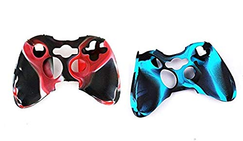 2 Pack of Silicone Xbox 360 Controller Skin, Premium Super Grip Protective Skin Case Cover for Xbox 360 Gamepads ()