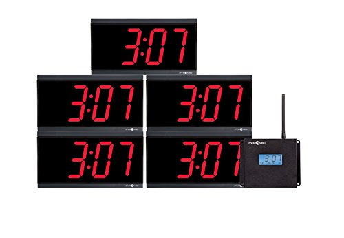 Pyramid TimeTrax Sync RF Wireles Clocks in a Box Digital Bundle (WSCBD-5)