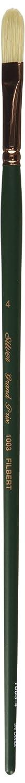 Silver Brush 1003-4 Grand Prix Premier Long Handle Hog Bristle Brush, Filbert, Size 4 Silver Brush Limited