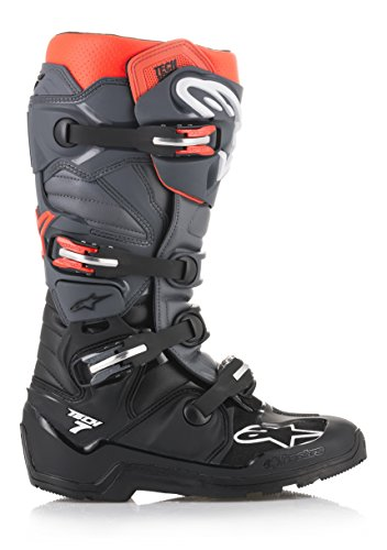 Tech 7 Enduro Off-Road Motocross Boot (10 US, Black Gray Red Fluo)