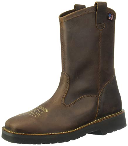 Danner Men's Bull Run Wellington Construction Boot, Brown, 12 D US