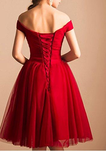 Off Bridesmaid Grape The Tulle Dresses Shoulder BD296 Short BessDress Dresses Homecoming dg6wn0