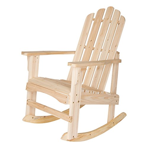 Unfinished Rocking Chairs - Shine Company Marina Porch Rocker Chair, Natural