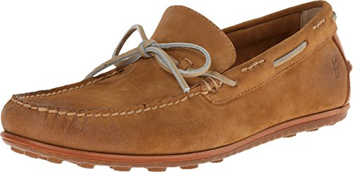 Frye Men's Harris Tie Wheat Oiled Suede Boat Shoe 9.5 D (M) (Deck Tie Shoes)