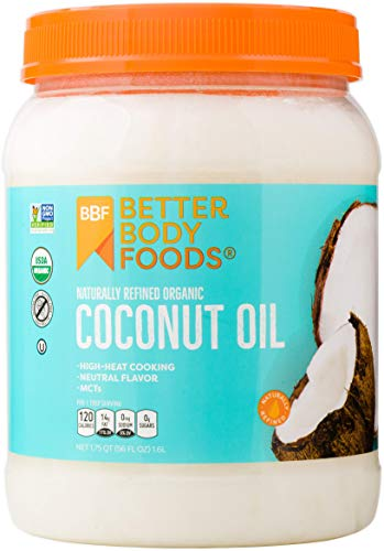 BetterBody Foods Organic Virgin Coconut Oil - Cold-Pressed and Unrefined Coconut Oil, Medium Temperature Cooking Oil, Great Alternative To Butter, Light Coconut Flavor and Aroma, 56 Ounce (Organic Extra Virgin Coconut Oil Sri Lanka)