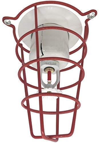 Happy Tree (4 Pack) Red Fire Sprinkler Head Guard for Both 1/2″ & 3/4″ Sprinkler Head 6″ Deep Cage