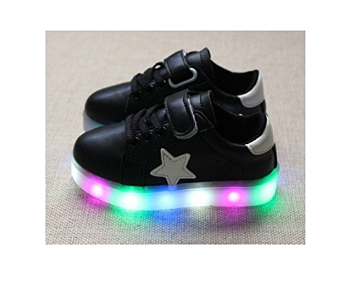 Children Shoes LED Light Kids Shoes with light Baby Boys Girls Lighting Sneakers Casual Children Sneakers (8, - Ferrari Blue Price