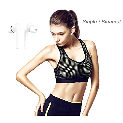Upgrade Wireless Earbud Headphones Digital LED Bluetooth 5.2 Earphone in-Ear Smart Sports HiFi Stereo Deep Bass Headset with Charging Case Type-C Cable for Sport/Travel/Gym/Work for iPhone Android