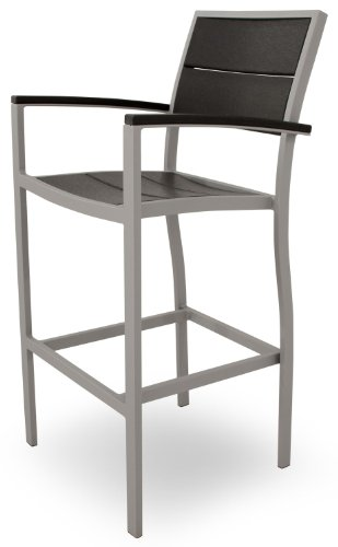 Cheap Trex Outdoor Furniture TXA212-11CB Surf City Bar Arm Chair, Textured Silver/Charcoal Black