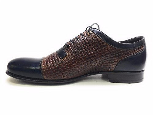 Scarpe Stringate Uomo Harris Marrone Moro E Blu Sì 10uk