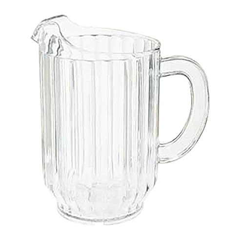 60 oz. Clear Plastic Pitcher, Dishwasher Safe, Break Resistant, for Indoor and Outdoor Entertaining, by GET P-2064-1-CL-EC (Pack of 1) (Plastic Dishwasher Safe Pitcher)