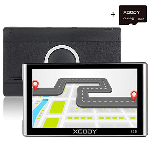 king GPS Navigation System 16GB 7 Inch Touch Screen Vehicle GPS Navigator Spoken Turn-By-Turn Lifetime Map Updates Speed Limit Displays Support AV/IN ()