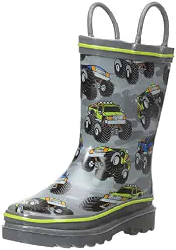 Western Chief Kids' Monster Crush Rain K Pull-on Boot