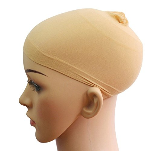 12 Pieces One Size Fits All Hair Net Skin Color Nylon Wig Caps for Women, Kids and Men by Meiyoo2 (Natural Nude Beige) by Meiyoo (Image #4)