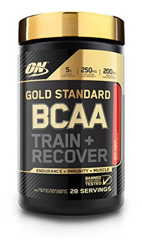 Optimum Nutrition Gold Standard BCAA, Fruit Punch, 28 Servings, Branched Chain Amino Acids, 5g BCAA - Complex Hammer Nutrition