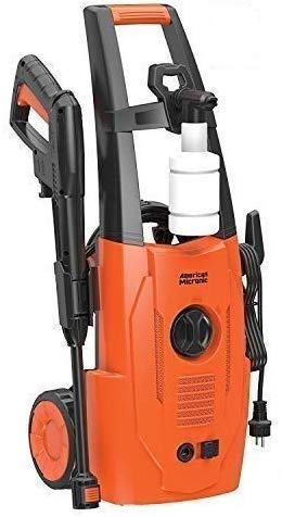 American Micronic- AMI-PW1-1500WDx- Imported 120 Bar (140 Bar hose), 1500 Watts Pressure Washer, Variable spray nozzle, 20 feet (6 M) pressure hose, 5M wire with Soap dispenser. FREE Inlet Hose & Turbo Nozzle- 2021 model (Orange/Black)