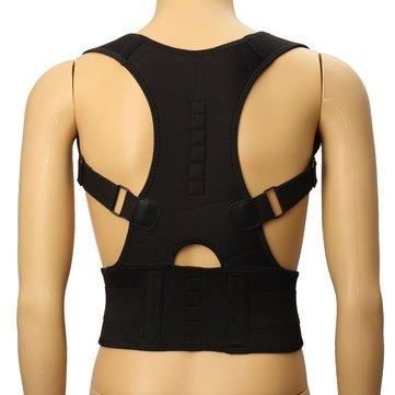 Posture Corrector - back posture corrector - posture corrector for men - Back Corrector - Fully Adjustable Hunchbacked Posture Corrector Lumbar Back Magnets Support Brace Shoulder Band Belt (XL) by Generic (Image #3)
