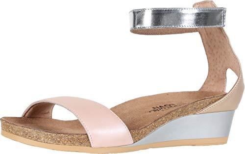 - NAOT Footwear Women's Pixie Wedge Sandal Pearl Rose Lthr/Champagne Lthr/Silver Mirror Lthr 7 M US