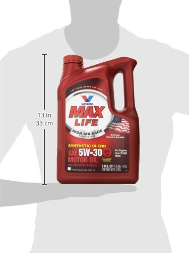 Valvoline high mileage with maxlife technology 5w 30 for Best high mileage synthetic motor oil