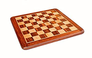 Collectible Rosewood Wooden Chess Game Board Without Pieces - Appropriate Wooden & Brass Chess Pieces Chessmen available separately by StonKraft Brand