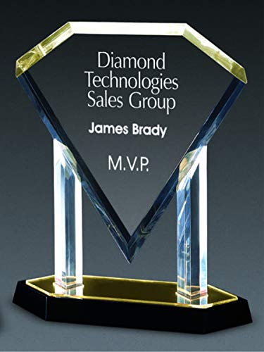 Gold Diamond in A Cradle Award (Diamond Award Beveled Acrylic)