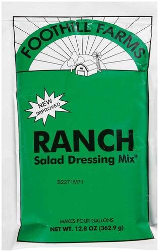 Foothill Farms Ranch Dressing Mix, 12.8 Ounce - 6 Case ()