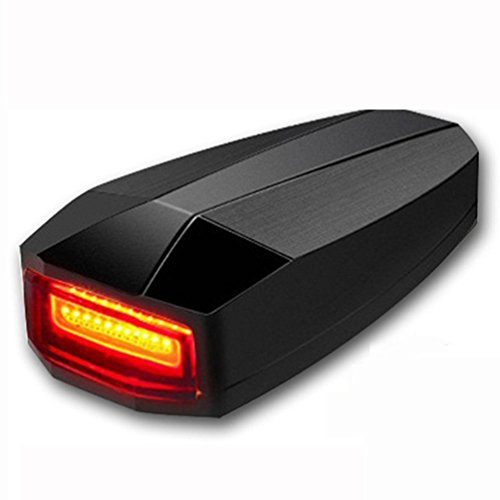 Retour Vélo Lumière, Letone A3 Vélo Lumière USB Rechargeable Vélo Arrière Feu Arrière Anti-Vol Alarme Lampe-IPX5 Étanche