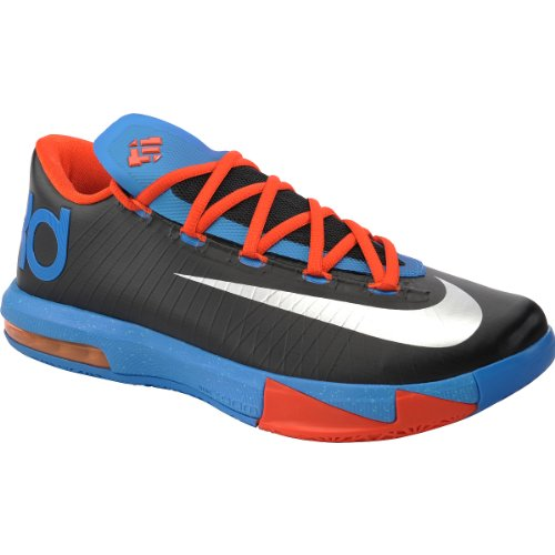 Nike Men's KD VI, ENERGY-COOL GREY/ELCTRC GREEN-BRGHT CRMSN, 14 M US