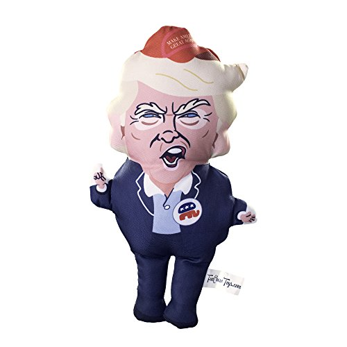 Squeaky Donald Trump Dog Chew Toy - Funny Presidential Satirical Pet Toy with Squeaker