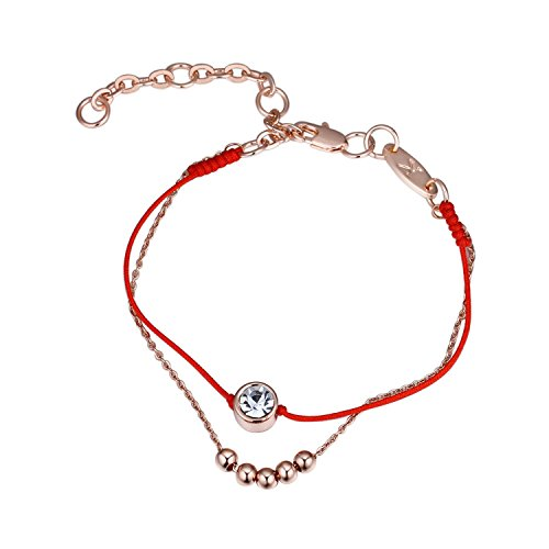 Girl-Shop Europe and the United States couple red rope bracelet Import the Crystal beaded double bracelet cop by Girl-Shop