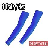 Elixir Golf Sun Protection Arm Cooling Sleeve-1 Pair, Blue