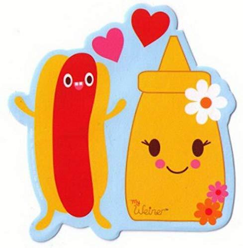 (My Weiner Hot Dog and Mustard Love Sticker BS698)