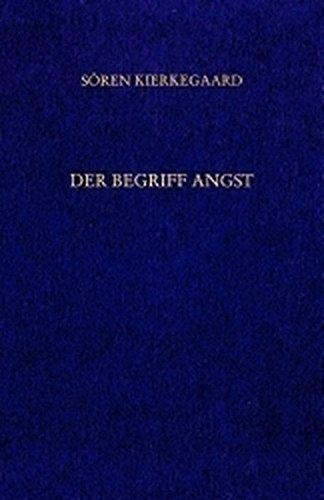 Der Begriff Angst. Vorworte. ( Gesammelte Werke und Tagebücher, 11./12. Abt. ( = Band 7 ))