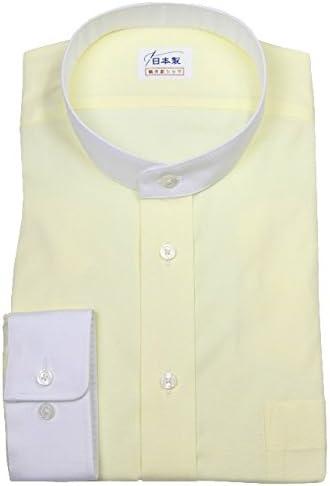ワイシャツ 軽井沢シャツ [A10KZZS38]スタンドカラー ピンポイントOX イエロー クレリック らくらくオーダー受注生産商品