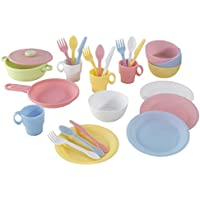 KidKraft 27 Piece Kitchen Play Set (Pastel)