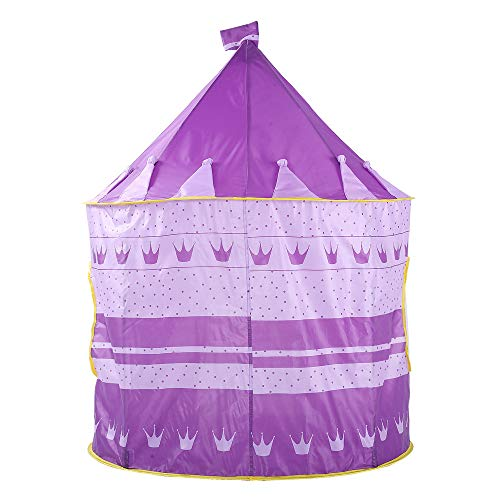 Sviper Kids Play Tunnels Creative Crown Play Tent Kids Children Indoor Foldable Toys Playhouse Purple Pop Up Tunnel Gift Toy by Sviper (Image #2)