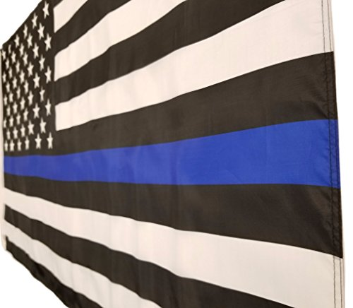 Thin Blue Line Flag - 3x5 Law Enforcement American Banner - USA Police Force Support for Outdoor / Indoor Display