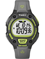 Timex Men's T5K692GP Ironman Traditional 30-Lap Full-Size Black Green Resin Strap Watch