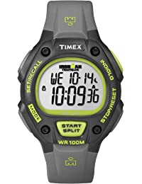Timex Men's T5K692GP Ironman Traditional 30-Lap Full-Size Black Green Resin Strap Watch
