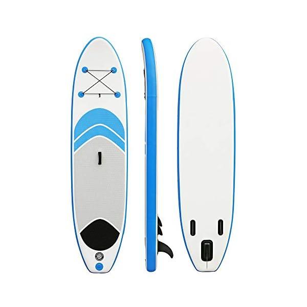 Stand Up Paddel Gonfiabile 10 stand SUP insieme del bordo conveniente in alluminio Pompa Paddle Kit di riparazione Zaino… 2 spesavip